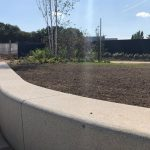 Raised Architecural Planter and Seating Feature - Mill Hill